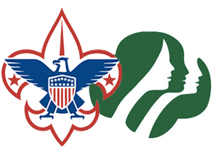 Scouts symbols, Boy Scouts, Girl Scouts, Cub Scouts, Brownies, Girl Guides, troops