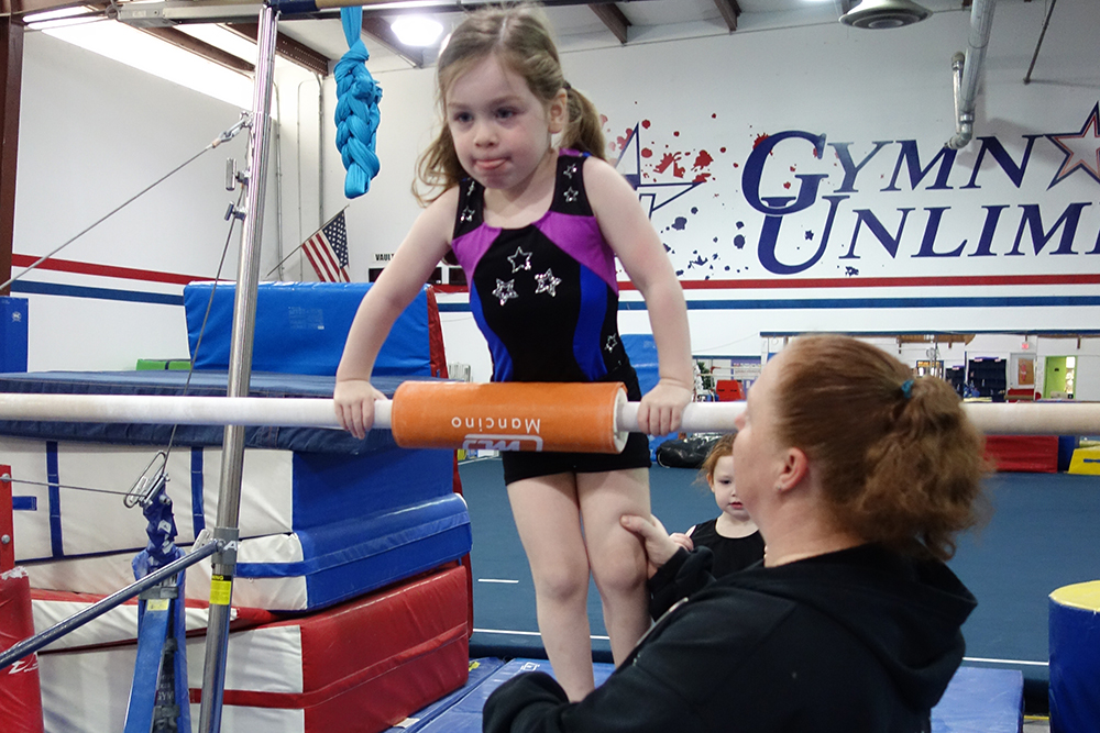 gymnastics unlimited flemington little stars uneven bars