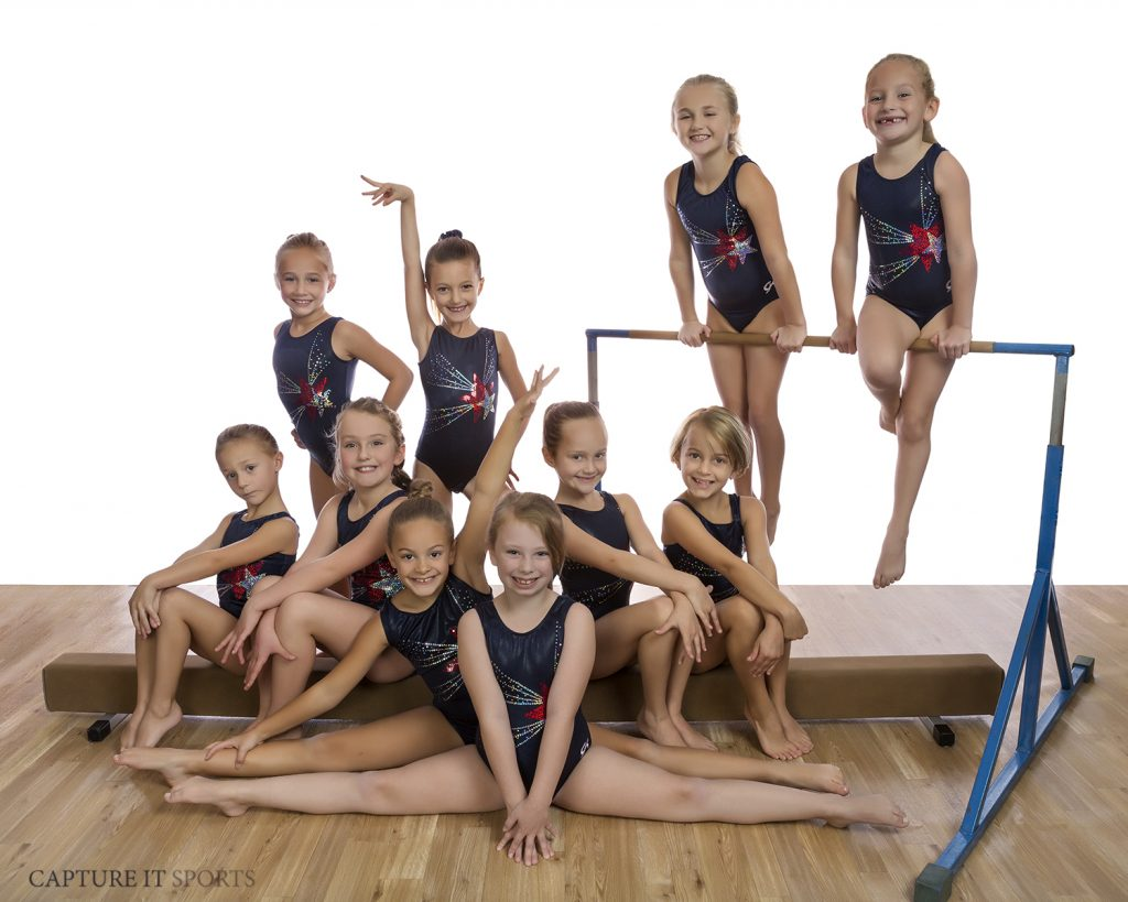 gymnastics unlimited mini stars competition team