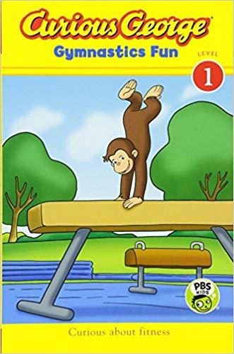 curious george gymnastics fun book