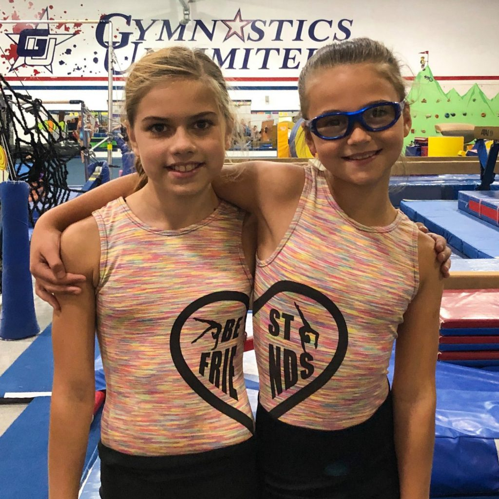 Gymnastics Unlimited Best Friends Leotards