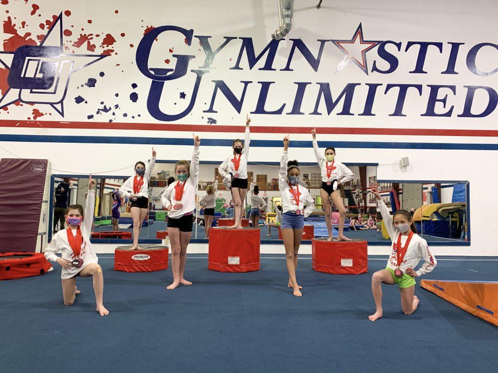 gymnastics unlimited xcel silver team