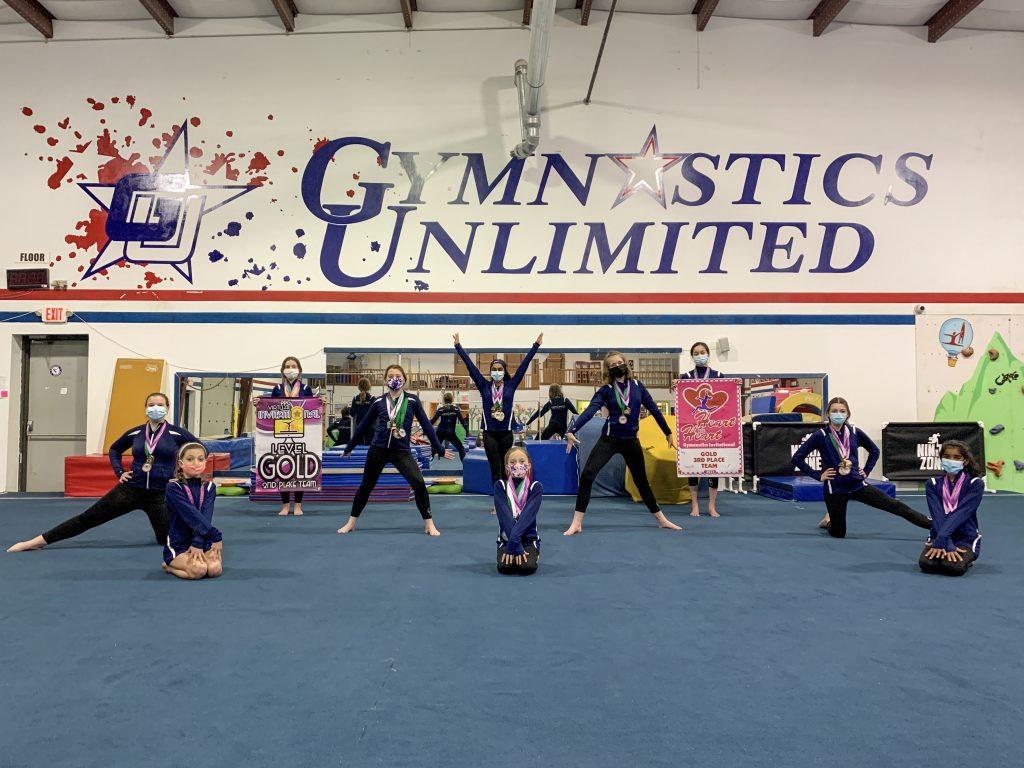 gymnastics unlimited xcel gold team