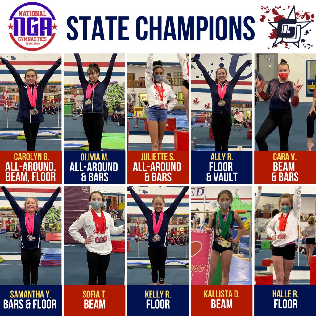 gymnastics unlimited nga state champions