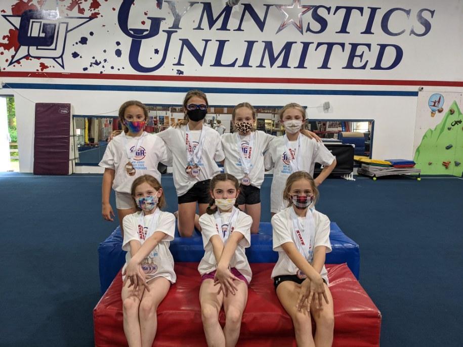 gymnastics unlimited level 3 and 4 teams