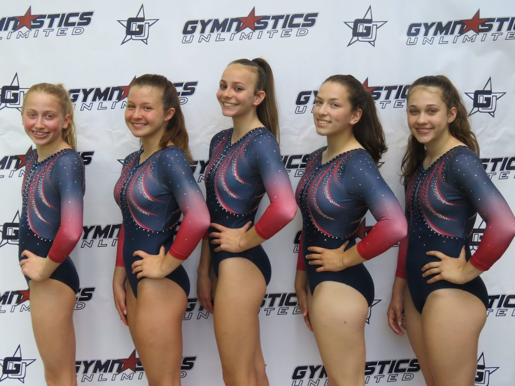 gymnastics unlimited level 7 and 8 team