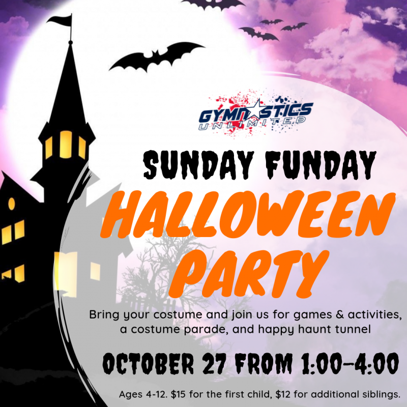 Gymnastics Unlimited Sunday Funday Halloween Party