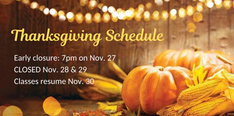 gymnastics unlimited thanksgiving schedule