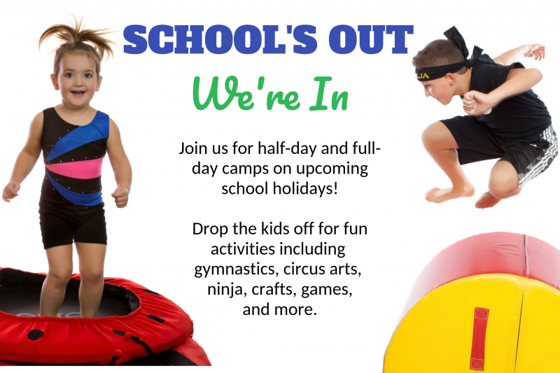 School's Out We're In Day Camp Gymnastics Unlimited