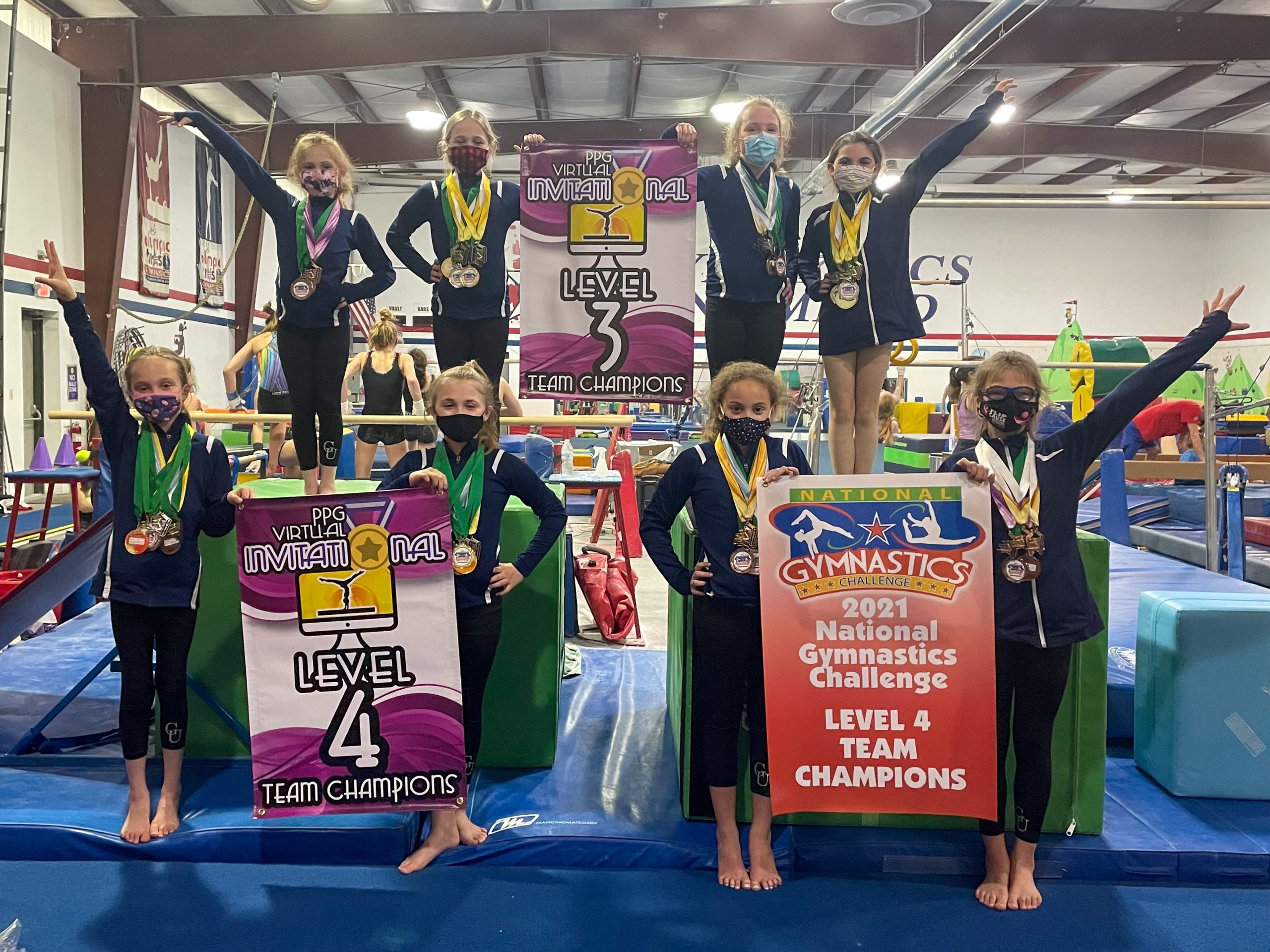 gymnastics unlimited level 3 and 4 teams