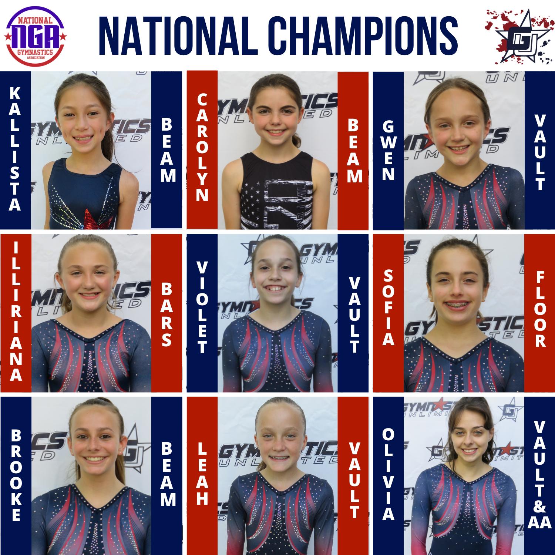 gymnastics unlimited nga national champions
