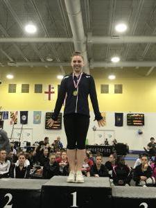Regional Vault Champion Rebecca Lezon (2018)