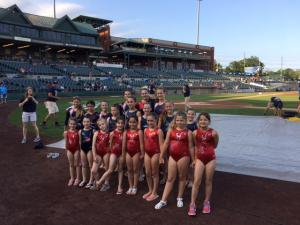 Performance Team at the Patriots Game (with USAG Team)